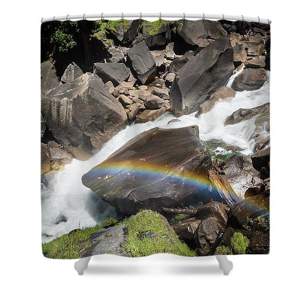 Rainbow At Vernal Falls- Shower Curtain
