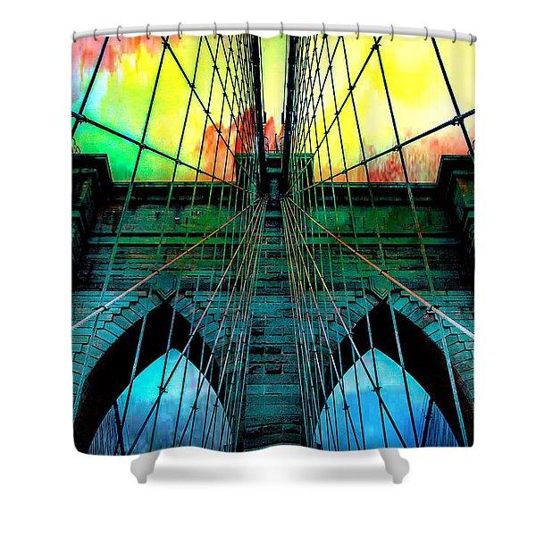 Rainbow Ceiling  Shower Curtain