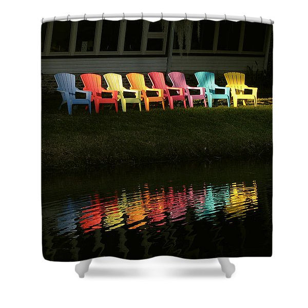 Rainbow Chairs  Shower Curtain