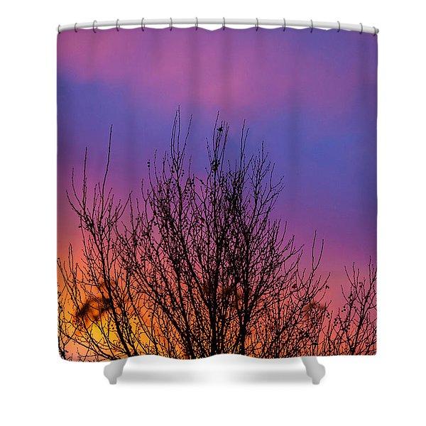 Rainbow Clouds Shower Curtain