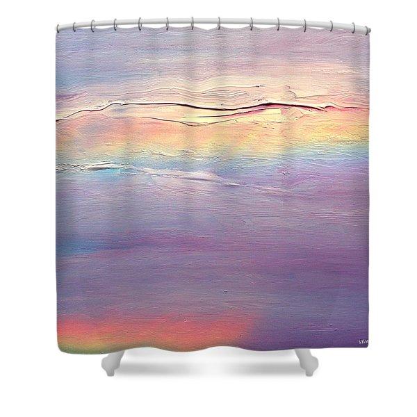 Rainbow Clouds.  Wip Shower Curtain