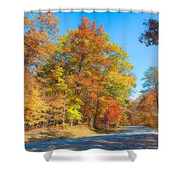 Rainbow Colored Drive Shower Curtain