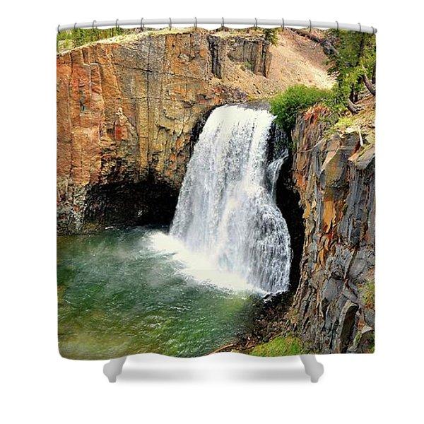 Rainbow Falls 3 Shower Curtain