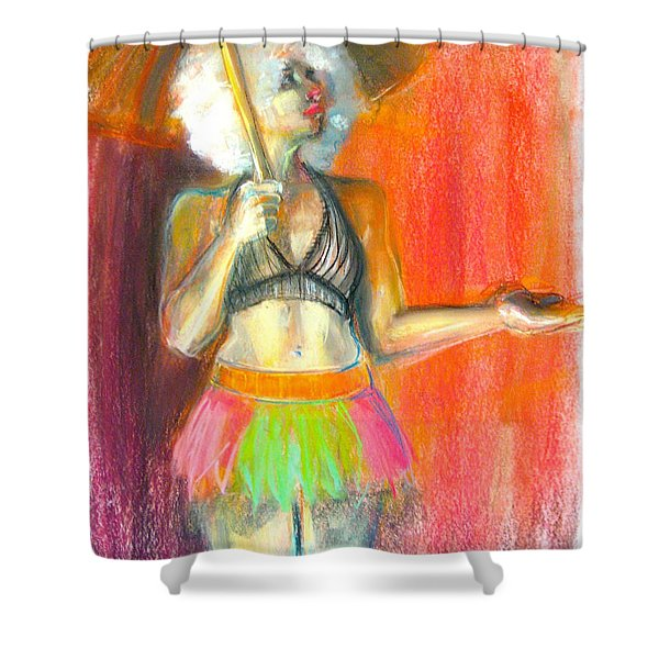 Shower Curtain featuring the drawing Rainbow by Gabrielle Wilson-Sealy