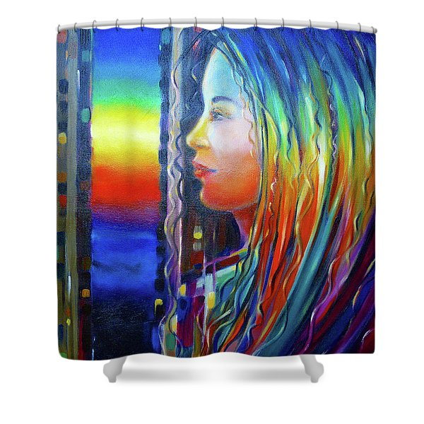 Rainbow Girl 241008 Shower Curtain