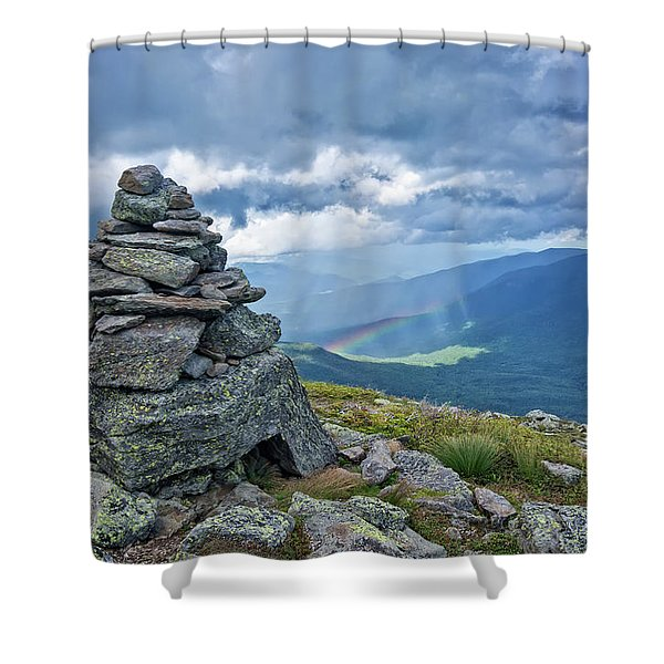 Rainbow In The Mist Nh Shower Curtain