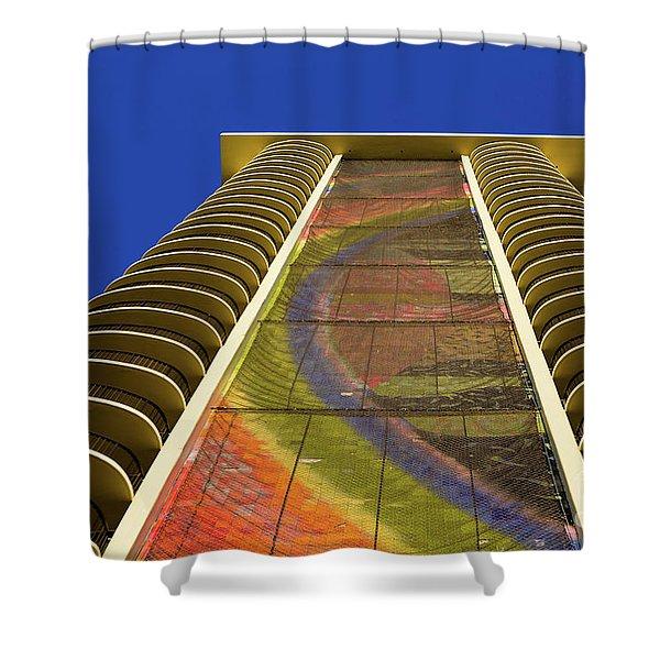 Rainbow In The Sky Shower Curtain