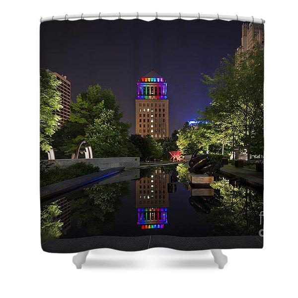 Rainbow Lights Shower Curtain