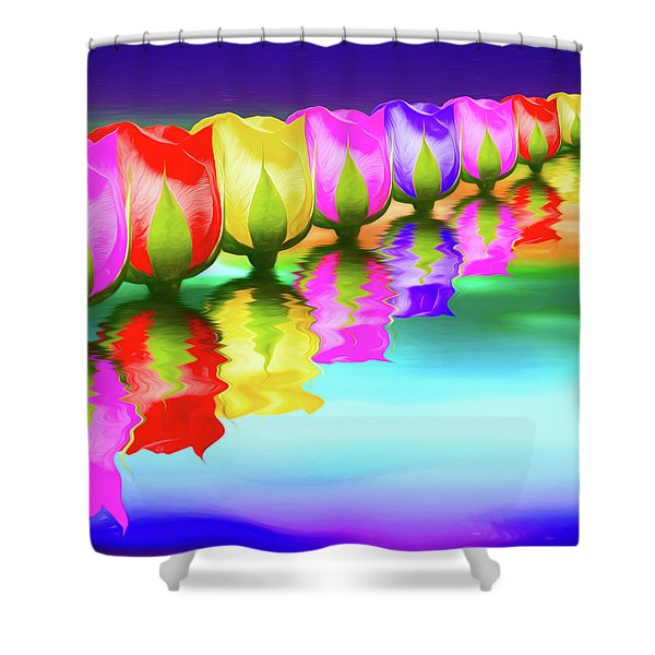 Rainbow Of Roses IIi Shower Curtain