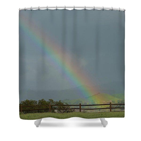Rainbow On Valhalla Dr. Shower Curtain