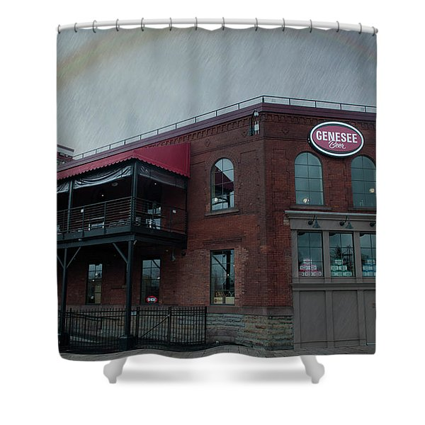 Rainbow Over Genesee Beer Shower Curtain