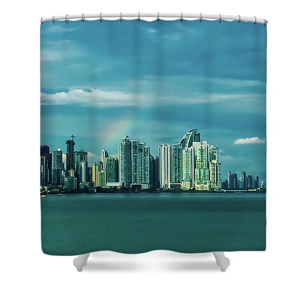 Rainbow Over Panama City Shower Curtain