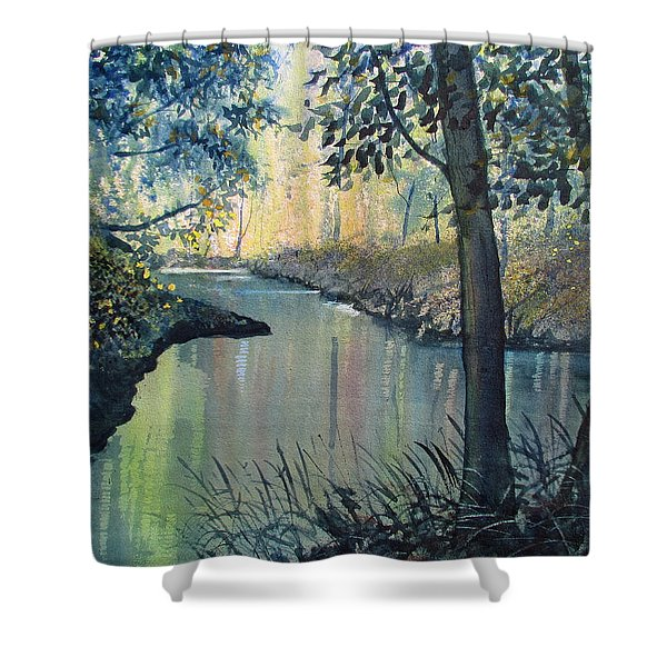 Rainbow River Shower Curtain