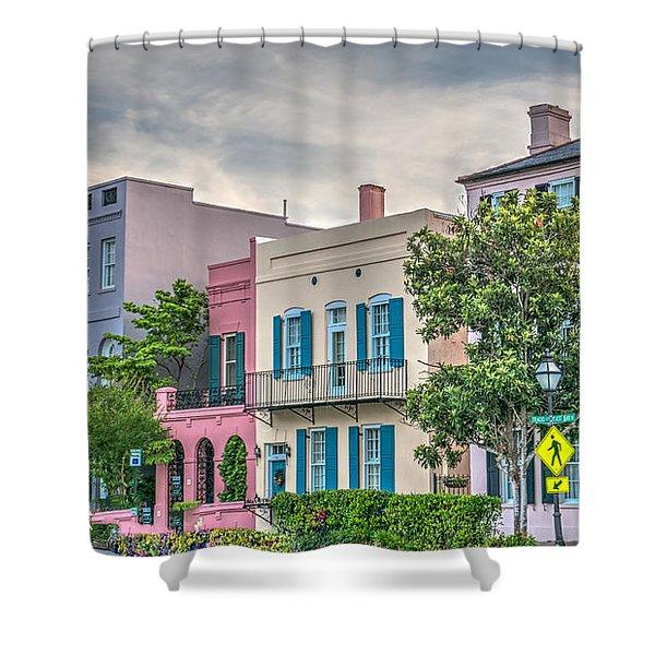Rainbow Row II Shower Curtain