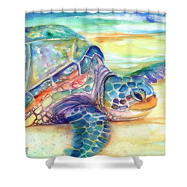 Rainbow Sea Turtle 2 Shower Curtain