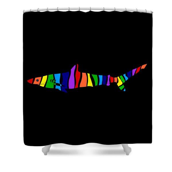 Rainbow Shark Shower Curtain