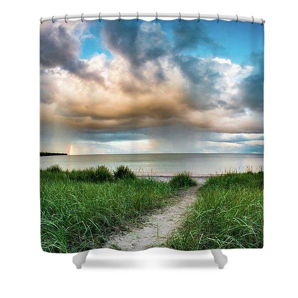 Rainbow Sunset Shower Curtain