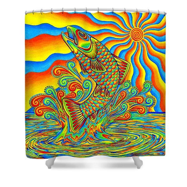 Rainbow Trout Shower Curtain