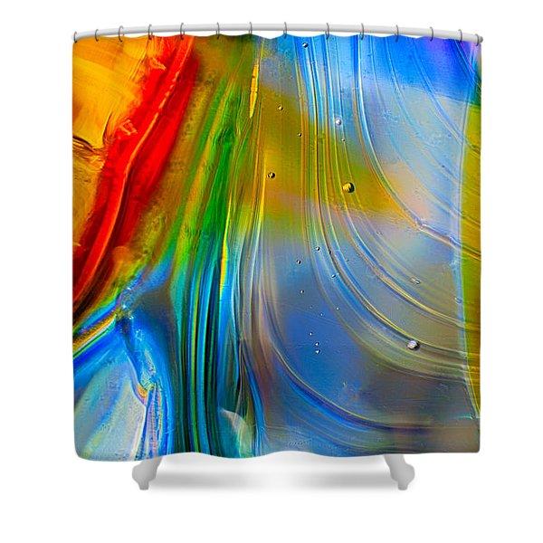 Rainbow Waterfalls Shower Curtain