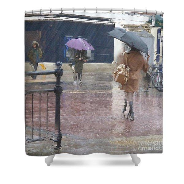 Raining All Around Shower Curtain