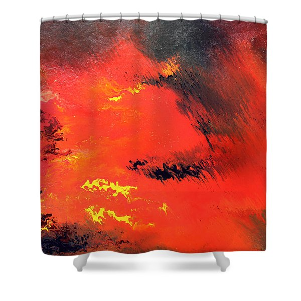 Raining Fire Shower Curtain