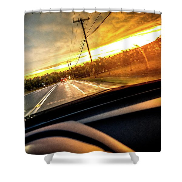 Rainy Day In July II Shower Curtain