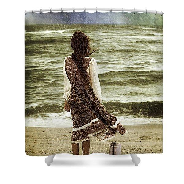 Rainy Day Shower Curtain by Joana Kruse