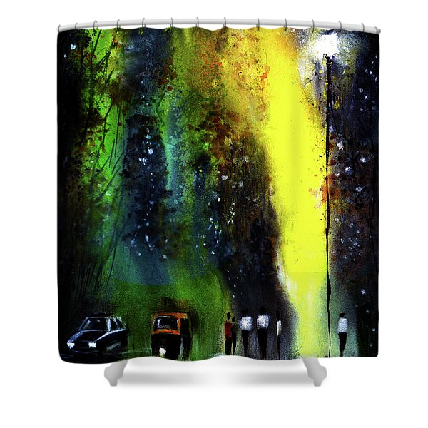 Rainy Evening Shower Curtain
