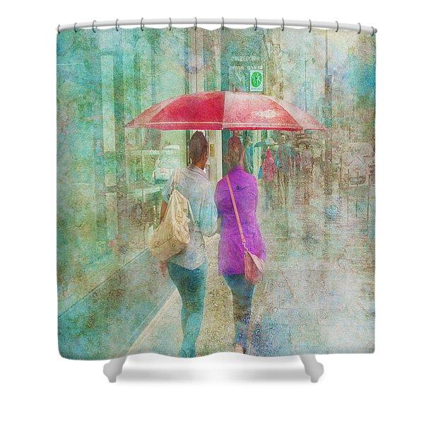 Rainy In Paris 1 Shower Curtain