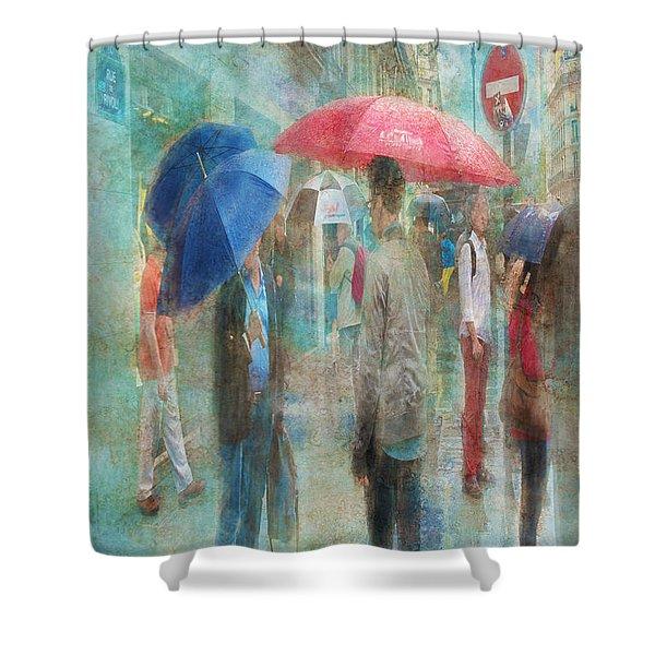 Rainy In Paris 6 Shower Curtain