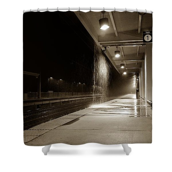 Rainy Night In Baltimore Shower Curtain