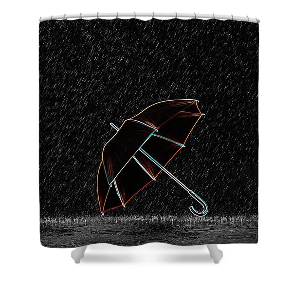 Rainy Night  Shower Curtain