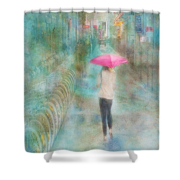 Rainy In Paris 3 Shower Curtain