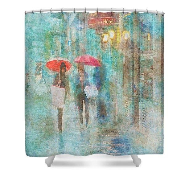 Rainy In Paris 4 Shower Curtain