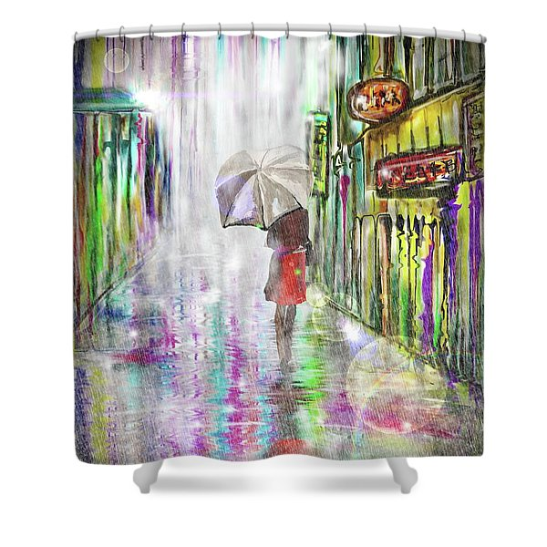 Rainy Paris Day Shower Curtain