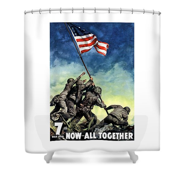 Raising The Flag On Iwo Jima Shower Curtain