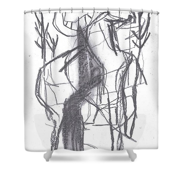 Ram In A Forest Shower Curtain
