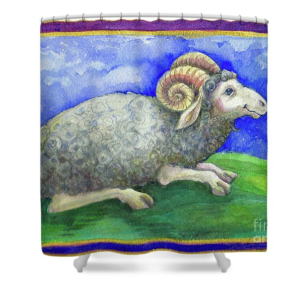 Ram Shower Curtain
