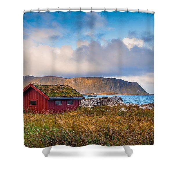 Ramberg Hut Shower Curtain