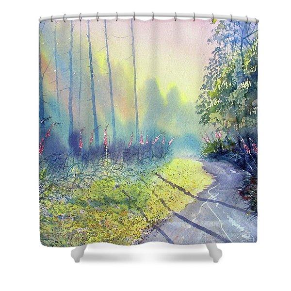 Rambling Amidst The Rosebay Shower Curtain