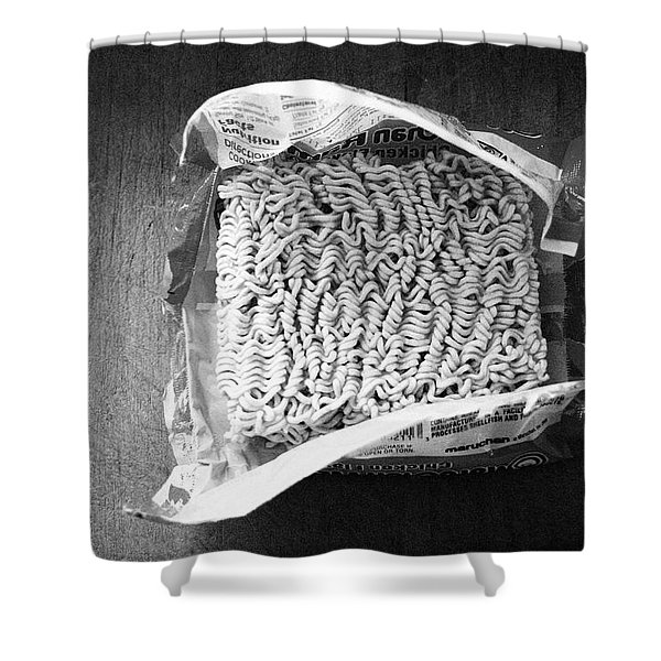 Ramen- Black And White Photography By Linda Woods Shower Curtain