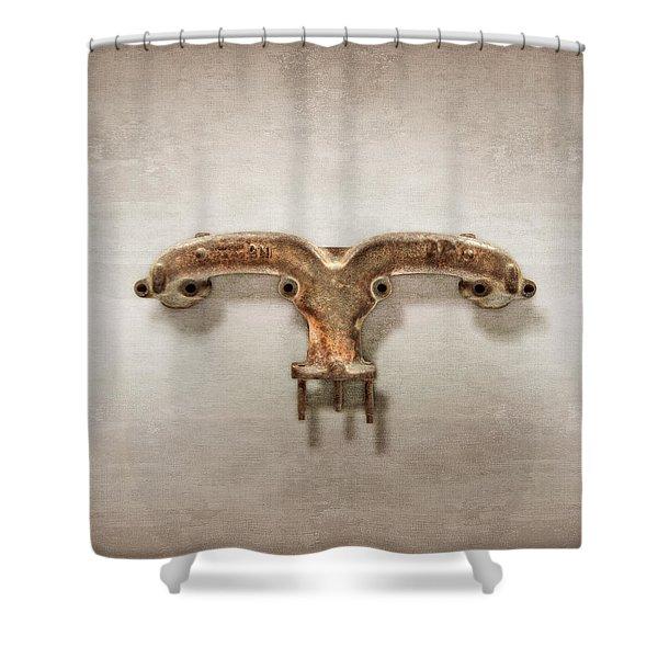Ram's Horn Exhaust Shower Curtain