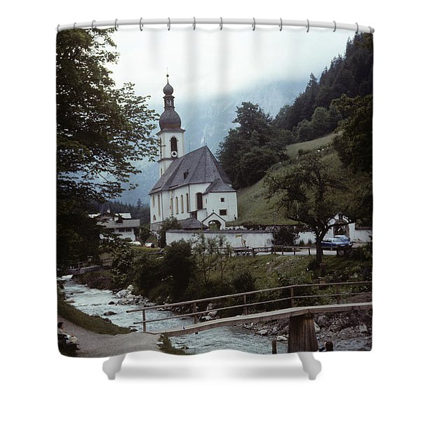 Ramsau Church Shower Curtain