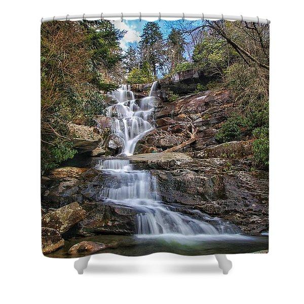 Ramsey Cascades - Tennessee Waterfall Shower Curtain