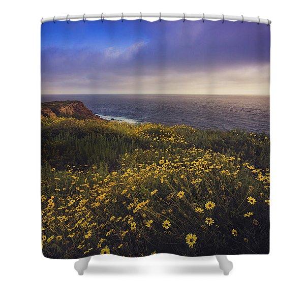 Rancho Palos Verdes Super Bloom Shower Curtain