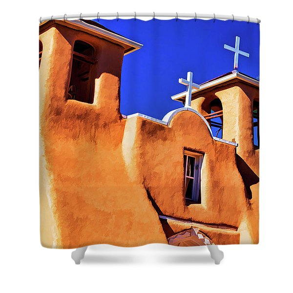 Ranchos De Taos Church Shower Curtain