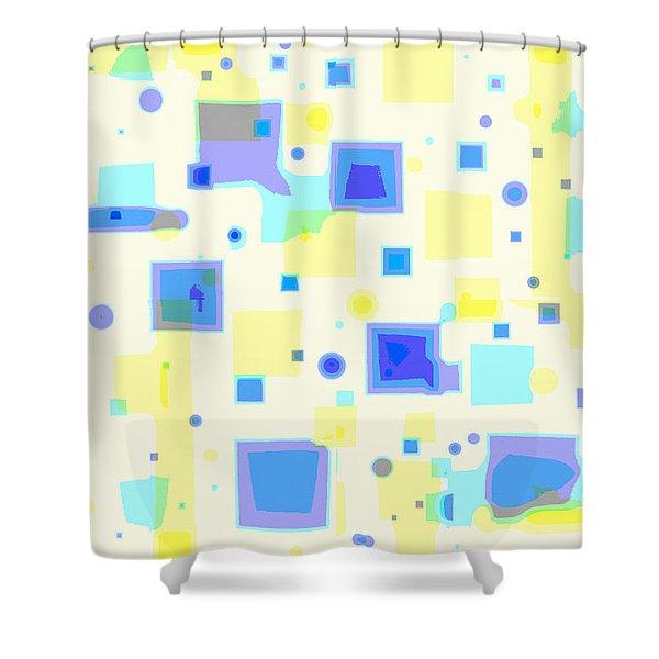 Random Blips Shower Curtain