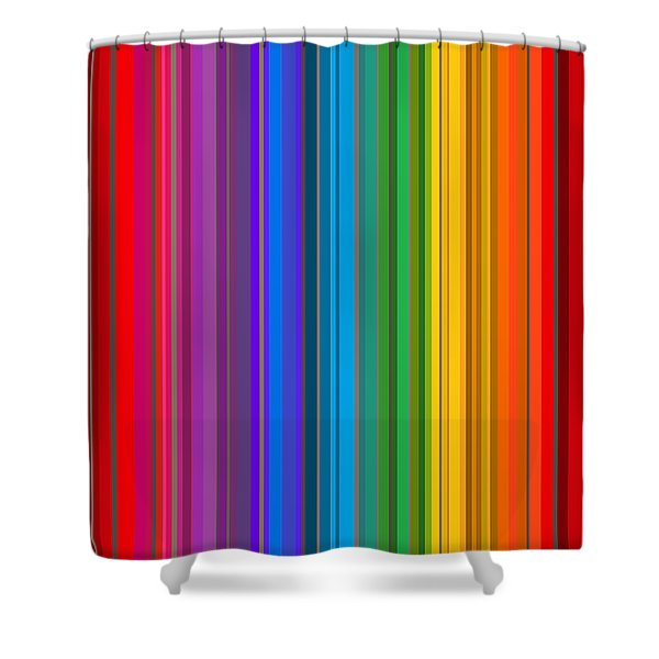 Random Stripes - Rainbow Stripe Shower Curtain