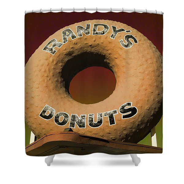 Randy's Donuts - 2 Shower Curtain