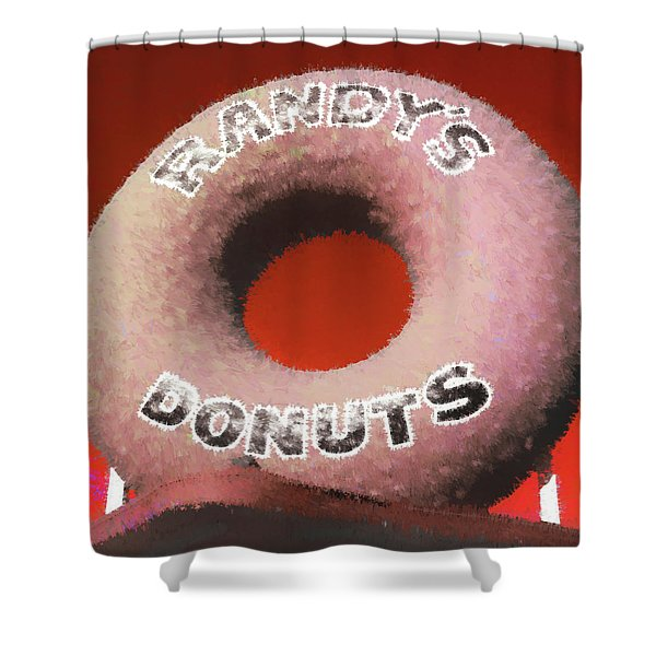 Randy's Donuts - 4 Shower Curtain